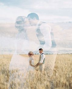 Love the ethereal beauty of this double exposure wedding photo