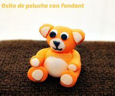 Tutorial fondant teddy bear. Tutorial fondant osito de peluche.