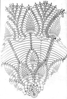 Home Decor Crochet Patterns Part 153 - Beautiful Crochet Patterns and Knitting Patterns Crochet Doily Diagram, Crochet Pillow Pattern, Crochet Mandala, Crochet Chart, Filet Crochet, Crochet Potholders, Crochet Tablecloth, Crochet Doilies, Doily Patterns