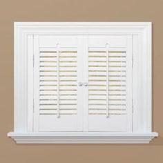 homeBASICS, Traditional Real Wood Snow Interior Shutter (Price Varies by Size), QSTC2320 at The Home Depot - Mobile