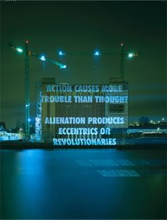 xenon on baltic centre for contemporary art, gateshead, england, 2000  © jenny holzer