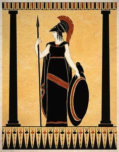 Ancient Goddess Athena Minerva Greek Roman Art Print Wall Decor - Photography İdeas,Photography Poses,Photography Nature, and Vintage Photography, Minerva Goddess, Athena Goddess, Goddess Art, Ancient Greek Art, Ancient Greece, Egyptian Art, Ancient Aliens, Ancient Egypt, Ancient History