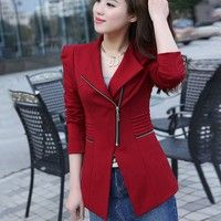 Item type: Jacket Tops Material: polyester Color: black, red, yellow Gender: women Sleeve: full s