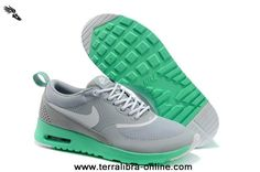 2013 Grey Green Nike Air Max Thea Print Womens Shoes 2014 New Releases For Sale