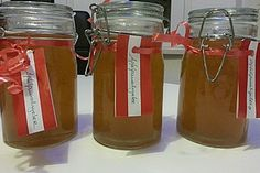 Apfelpunsch - Gelee (Rezept mit Bild) von feentrampel | Chefkoch.de Chutneys, Law Carb, Jar Of Jam, Jam And Jelly, Fire Extinguisher, Mason Jars, Cooking Recipes, Yummy Food, Homemade