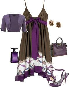 """purple/brown"" by yiannab on Polyvore"