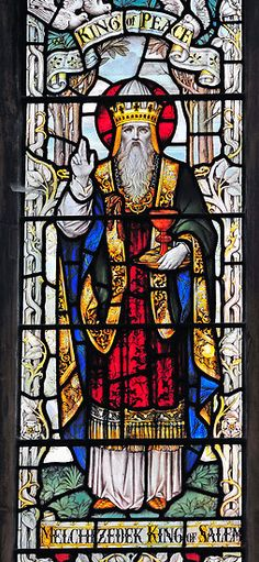 """""""Melchizedek was king of Salem and priest of God Most High. He met Abraham returning from the defeat of the kings and blessed him, and Abraham gave him a tenth of everything. First, the name Melchizedek means 'king of righteousness'; then also, 'king of Salem' means 'king of peace.' Without father or mother, without genealogy, without beginning of days or end of life, resembling the Son of God, he remains a priest forever."""" Hebrews 7:1-3"""