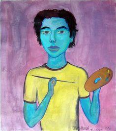 Autorretrato 2, acrylic on canvas, 43 x 50 cm. 2006 / 2008. Pintura en venta de…