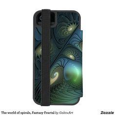 The world of spirals, Fantasy Fractal Wallet Case For iPhone SE/5/5s
