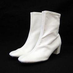 60s Boots Vintage MOD White Groovy GoGo Ankle by voguevintage, $88.00