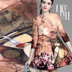Printed Silk Organza Fabric With Novelty Pattern 534485035653 Silk Organza, Satin Fabric, Printed Silk Fabric, Satin Material, Fashion Fabric, Silk Dress, Sewing Crafts, Crisp, Natural
