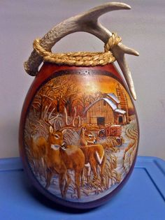 Gourd Art by Caroll Maholick, featuring GourdMaster™ Transparent Acrylics