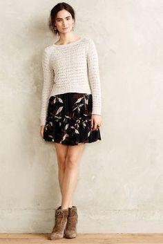 Essentiel Antwerp Outback Ruffled Skirt #anthrofave