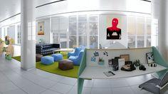 Escenario 3D para mobiliario de oficina. Cliente: Particular. Render por Icaras. 2013-14