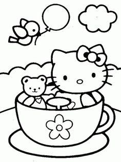 Dibujos para colorear de Hello Kitty - 9 pasos - unComo