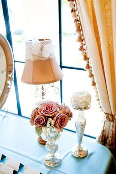 love the lamp shame- sooo elegant!