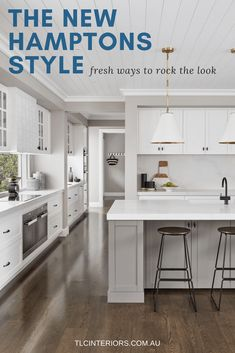 White Hamptons kitchen ideas plus a whole host of other Hamptons home style insp. - White Hamptons kitchen ideas plus a whole host of other Hamptons home style inspiration. Kitchen Decorating, Home Decor Kitchen, New Kitchen, Kitchen Ideas, Kitchen Grey, Smart Kitchen, Country Kitchen, Kitchen Planning, Decorating Ideas