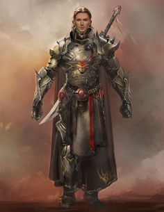 Knight in full plate armor