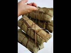 Table for or more: Guangxi Rice Dumplings (zongzi) 广西粽子 - Wrapped # 3 Rice Recipes, Seafood Recipes, Asian Recipes, Chinese Recipes, How To Make Dumplings, Making Dumplings, Rice Dumplings Recipe, Glutinous Rice, Chinese Food