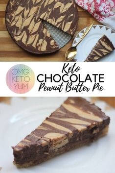 Intense Weight Loss Diet A Keto chocolate Peanut Butter marbled pie.Intense Weight Loss Diet A Keto chocolate Peanut Butter marbled pie. Keto Friendly Desserts, Low Carb Desserts, Low Carb Recipes, Dessert Recipes, Ketogenic Recipes, Brownie Recipes, Ketogenic Diet, Brownie Ideas, Dukan Diet