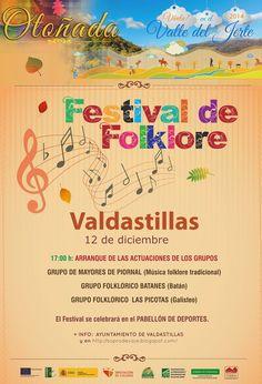 Festival de Folklore (12 de diciembre en Valdastillas) http://soprodevaje.blogspot.com.es/ OTOÑADA en el Valle del Jerte