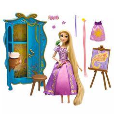 Figurines D'action, Tangled Princess, Disney Princess Dolls, Princess Toys, Disney Dolls, Disney Rapunzel, Pink Hair Extensions, Disney Visa, Lego Disney