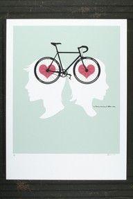 Coeur à deux roues.
