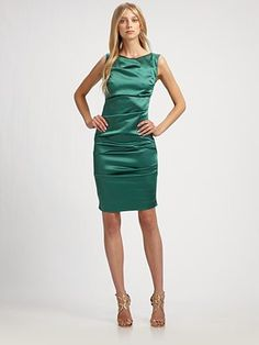 saks  love green and satin