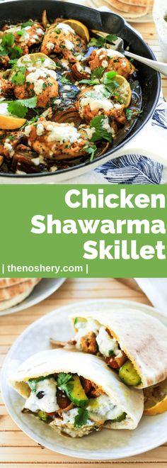 Baked Chicken Shawarma Skillet via @thenoshery