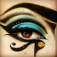 Egyptian makeup Ancient Egypt Fashion ❤ liked on Polyvore featuring beauty products, makeup, eye makeup and eyes