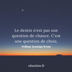 """Fate is not a question of luck, it is a question of choice . - - ""Fate is not a question of luck, it is a matter of choice. Positive Attitude, Positive Thoughts, Positive Quotes, Best Inspirational Quotes, Best Quotes, Motivational Quotes, Words Quotes, Life Quotes, Quote Citation"