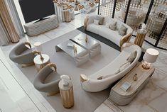 Living Room Sofa Design, Home Room Design, Home Living Room, Home Interior Design, Living Room Designs, Modern Interior, Luxury Sofa, Luxury Living, Luxury Dining Room