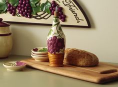 Vineyard Grapes Theme Ceramic Oil Dipping Set
