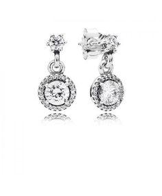 Genuine Pandora Classic Elegance Dangle Earrings 290594CZ Sale