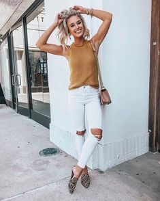 Cute Spring Outfits You Need To Copy In 2020 Cute Casual Spring Outfits Trends & Pretty Looks Korean Summer Outfits, Spring Outfits For Teen Girls, Preppy Summer Outfits, Summer Outfits Women Over 40, Spring Outfits Women, Outfits For Teens, Casual Fashion Trends, Womens Fashion Casual Summer, Spring Fashion