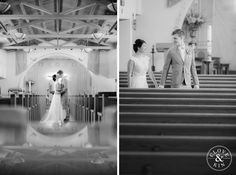 Classic Black & White images in traditional church ceremony.   Bommer Canyon Wedding, Photography by Clove and Kin