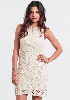 Beach Club Crochet Dress at #threadsence @threadsence