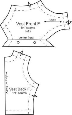 Barbie vest pattern--use for Girl Scout uniform?