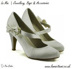 Ivory Satin Court Shoes