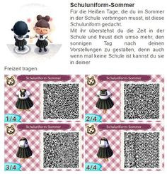 "New Leaf and Animal Crossing: Happy Home Designer - ""Casual Reese Dress"" QR Code. This is the outfit Reese wears while at home in ACHHD! Animal Crossing 3ds, Animal Crossing Qr Codes Clothes, Motif Acnl, Ac New Leaf, Pokemon, Happy Home Designer, Animal Games, Kawaii, Friends In Love"