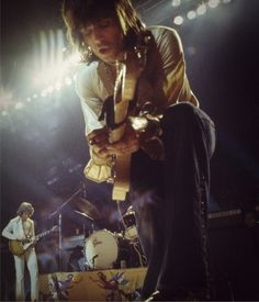 Keith Richards & Mick Taylor of The Rolling Stones on stage, 1972 –Image by ©Ethan Russell