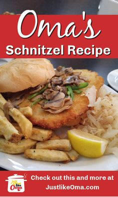 Make this German Pork Schnitzel just like Oma does! Easy-breezy, fun to make and absolutely delicious to eat! #germanfood #germanmeats #germanschnitzel