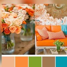 I love color, have never been afrsid to use it in decorating, accessorizing or dressing.♡♡♡Pretty colour palette from my favourite pins Colour Pallette, Colour Schemes, Color Patterns, Color Combos, Br House, Color Balance, Balance Design, Design Seeds, Color Swatches
