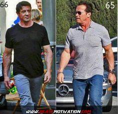 Sylvester Stallone Workout | Arnold Schwarzenegger 2014 Workout Legendary arnold & stallone