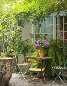 Ideas For Outdoor Seating Area Garden Outdoor Seating Areas, Garden Seating, Outdoor Rooms, Outdoor Gardens, Outdoor Living, Outdoor Decor, Garden Table, Garden Chairs, Outdoor Chairs