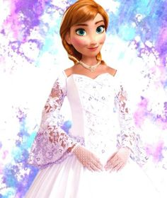 Frozen~Anna in wedding gown Princess Movies, Princess Anna, Disney Princess, Princess Style, Disney Magic, Disney Frozen, Frozen Frozen, Disney Movies, Disney Pixar