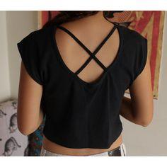 Cross cross T shirt cut design