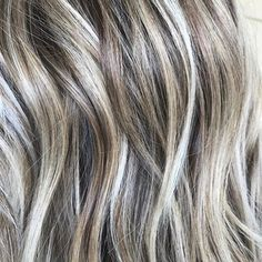Hairstyles Step By Step .Hairstyles Step By Step Love Hair, Great Hair, Gorgeous Hair, Beautiful, Hair Color And Cut, Haircut And Color, Hair Colour, Grey Blonde Hair, Gray Hair Highlights