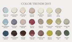 Postcards from the Ridge: 2015 Color of the Year ~ Guilford Green  Here are the color trends for 2015.   Some are sooo my colors!!!