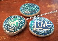 #customorder , painted stones,   painted rocks,  dot art, beach art , beach decor, blues, etsy, beachmemoriesbyjools, beach rocks, beach stones, river rocks,